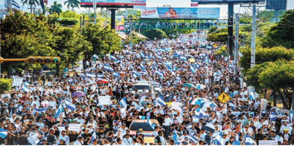Im April 2018, Tausende demonstrieren für Freiheit und Demokratie, Nicaragua
